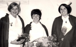 Stephanie Brice (Parker) (on left) Graduation Day 1970.jpg