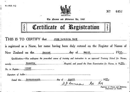 Rapson certif of reg 1951.pdf - The Nursing Oral History Project